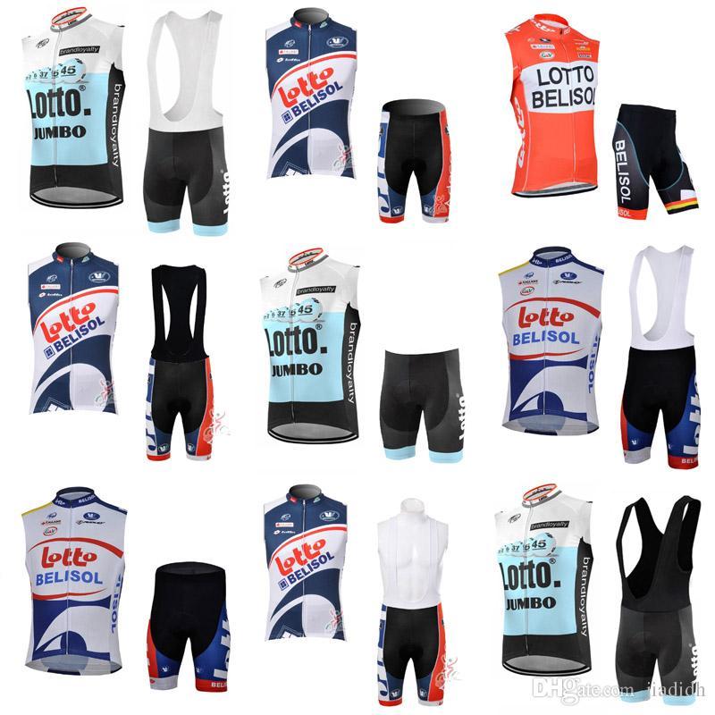 LOTTO Team Cycling Sleeveless Jersey Vest BibShorts Sets New Road Bike  Mountain Rider Racing Shirt Sportswear Outdoor C2214 Custom Cycling Jersey  Bike ... 53fd66765