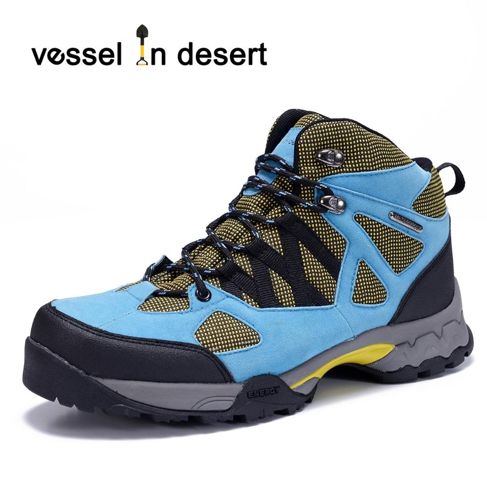 cf5824a1a68 Vessel In Desert Waterproof Men's Hiking Boots Outdoor Breathable Boots  lightweight Sneaker Blue Free Shipping Plus Size