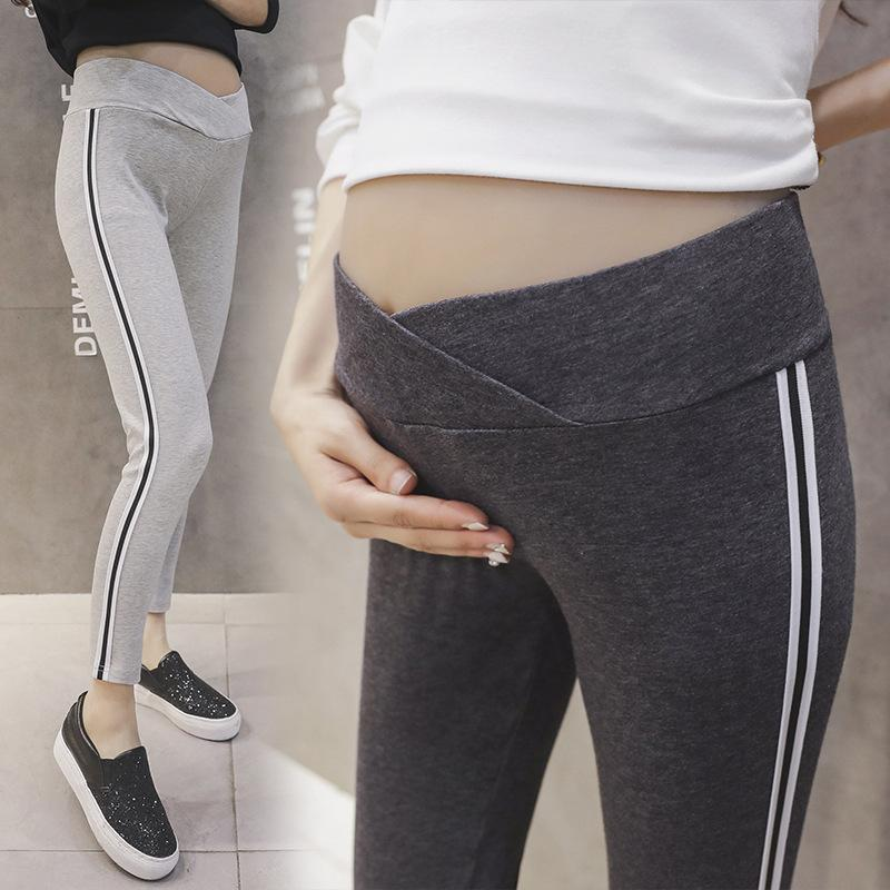 cc675e719a0a81 2019 Comfortable Black Gray Pregnant Women Casual Leggings Low Waist  Abdomen Pants For Maternity Women Girls Thin Sport Trousers From  Fragranter, ...