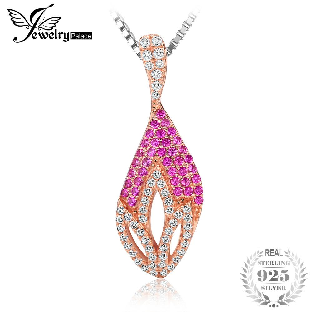 4570ce3c2a165 2019 JewelryPalace Flower Fashion 0.2ct Created Ruby Pendant 925 Sterling  Silver Gift For Women Hot Selling 2017 Not Include A Chain From Tuosu
