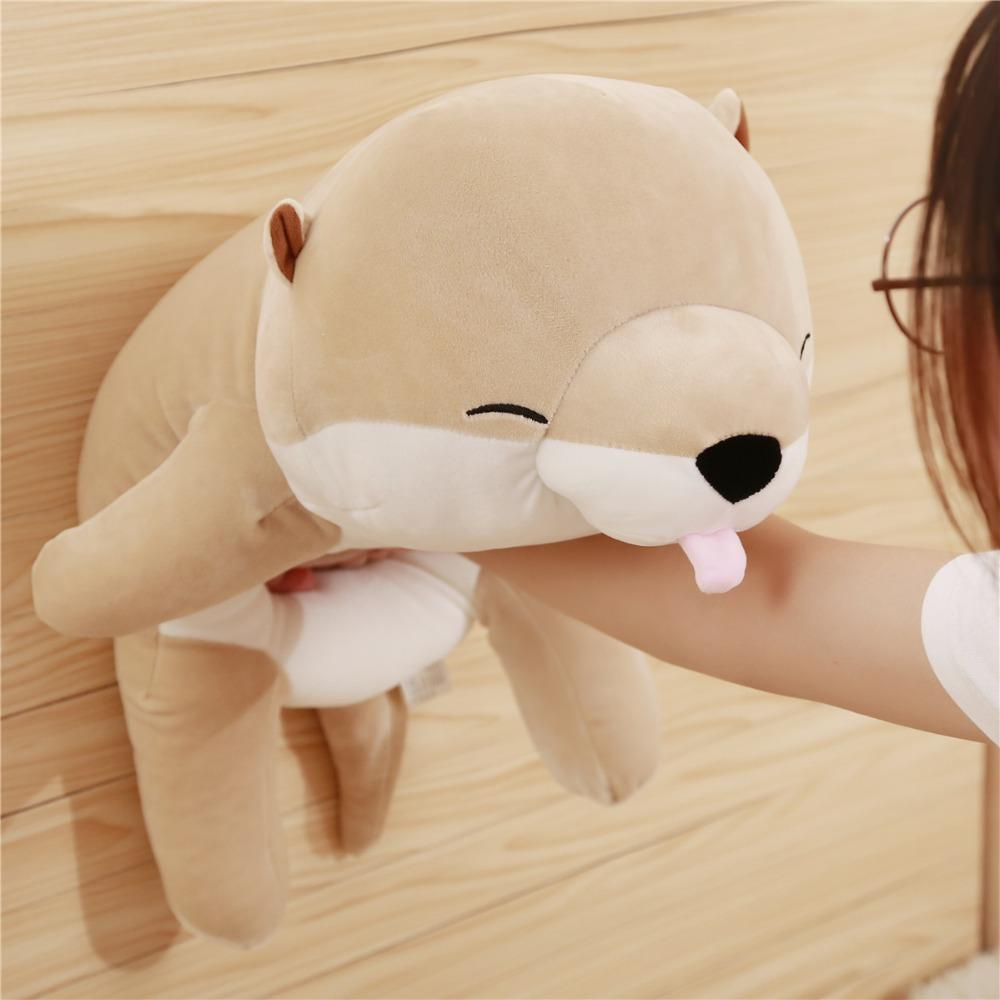 2019 45 60cm Lovely Otter Plush Toy Soft Cartoon Sea Otter Pillow