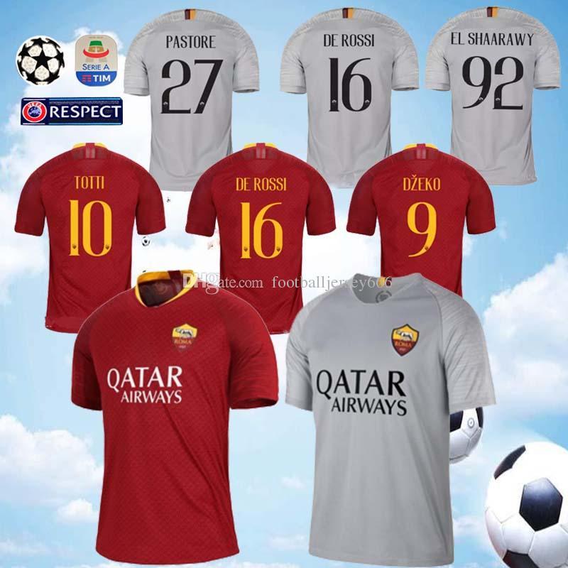 d9cf011a156 DZEKO PEROTTI PASTORE Soccer Jersey Rome 2019 TOTTI Jerseys 18 19 ...
