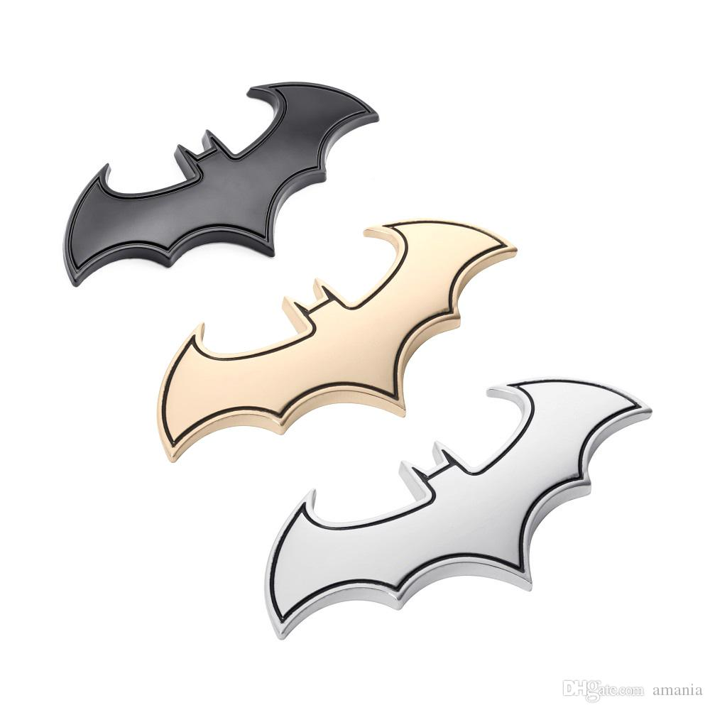 2019 3d car stickers cool metal bat auto logo car styling metal batman badge emblem tail decal motorcycle car accessories automobiles from amania