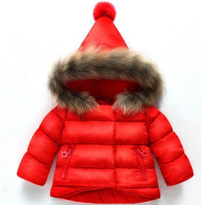 cheaper 1de9a 1f6fc CHCDMP Neue Kinderkleidung Baby Jungen Mädchen Jacken Herbst Winter Jacke  Kinder Halten Warme Baumwolle Mit Kapuze Dicke Oberbekleidung Mantel
