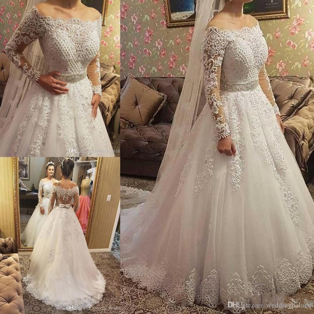 9596158168 Discount 2018 Latest Cap Sleeve Wedding Dresses Long Sleeve Button Back  Chapel Train Bridal Wedding Gowns Bride Dresses Vestido De Novia Cheap  Wedding ...