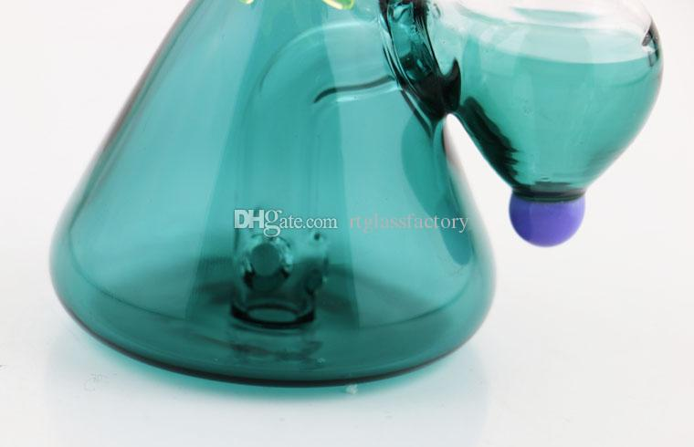 """6"""" New Arrival Glass Bongs Mysterious Eye Glass Dab Oil Rig Cone Base Mini Bong with Accessory Optional"""