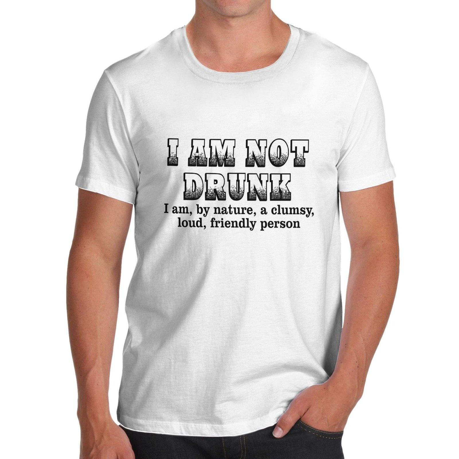 2d23ecd4e Men'S I Am Not Drunk I Am A Clumsy Friendly Person Funny T Shirt Be ...