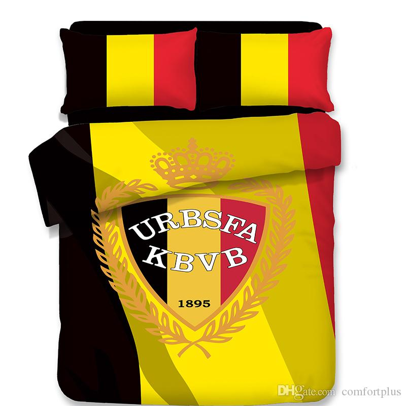 4 Designs World Cup Football Pattern Bedding Set Of Quilt Cover & Pillowcase Twin Full Queen King Size