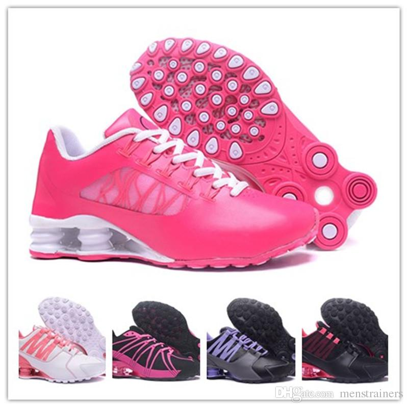 fa31168971a0a9 Pink Black Shox Women Tlx Running Shoes Chaussures Tlx Basketball ...