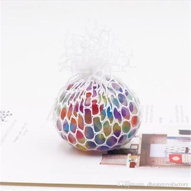 Cute Anti Stess Mesh Face Reliver Garpe Ball Fashion Multi-color Adult Venting Grapes Lamp Ball Funny and Tricky Toy Reduce Pressure Toy