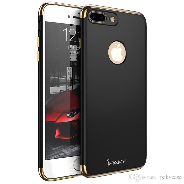 ipaky case for iphone 7 plus 3 in 1 hybrid electroplate iphone 7ipaky case for iphone 7 plus 3 in 1 hybrid electroplate iphone 7 back cover drop proof shockproof pc armor cases with package in stock designer phone cases