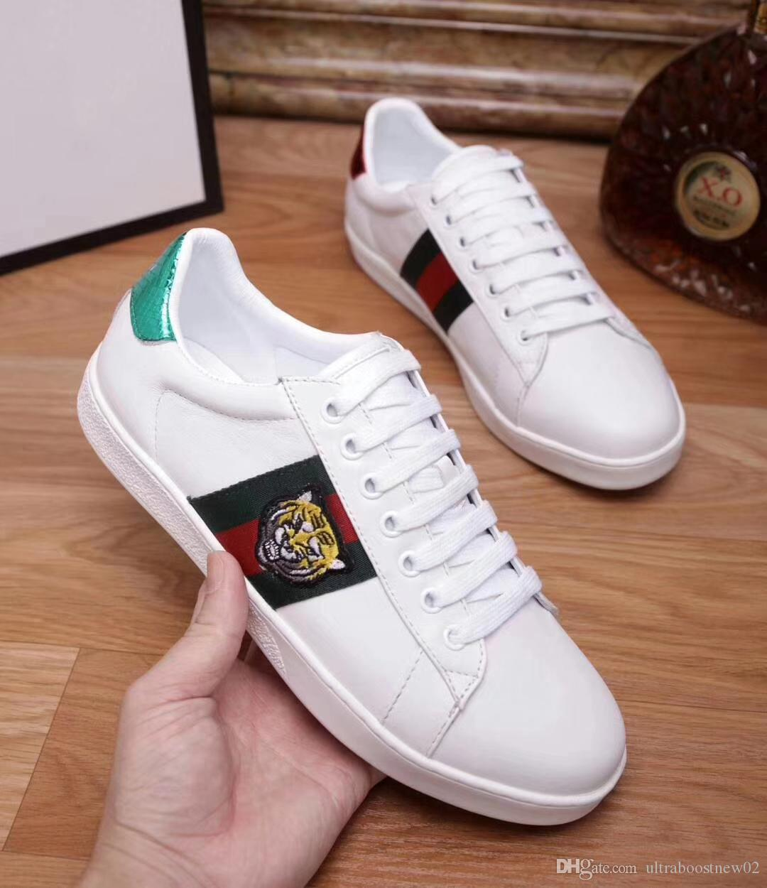 ... Women Shoes Ace Genuine Leather Embroidery Tiger White Black with Top  Quality Size 34-46 Designer Sneakers Shose Men Women Shoes Cheap Sneakers  Online ... 9763ce36cd