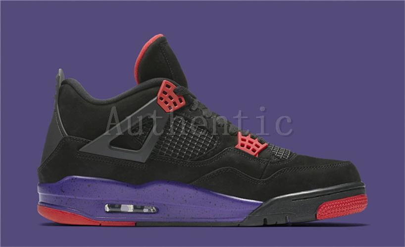 buy popular 50998 5f1ca 2018 Release 4 Drake NRG Raptors 4S IV Basketball Shoes Sneakers Men Black  Purple Red AQ3816-056 Drake Raptors Sports Shoes Authentic Box