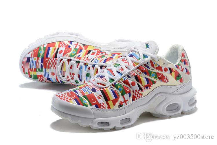the latest f4636 b3744 Nike Air Max airmax Plus Tn NIC QS 2018 Alta Calidad TN Plus 90 Bandera  Internacional NIC QS Hombres Mujeres Zapatillas Copa Mundial Limitada Tns  ...