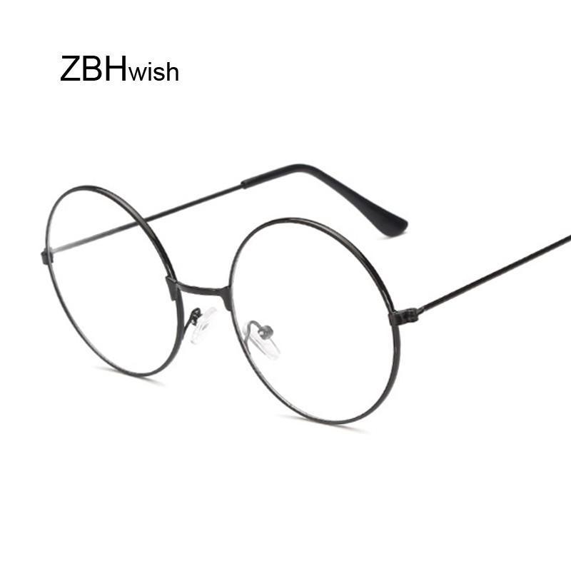 2320598135 Fashion Vintage Retro Metal Frame Clear Lens Glasses Nerd Geek Eyewear  Eyeglasses Black Oversized Round Circle Eye Glasses Boots Sunglasses Tifosi  ...