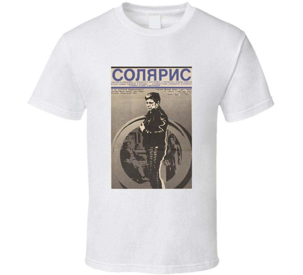 Acquista T Shirt Da Film Russo Solaris USSR Andrei Tarkovsky Maglietta Da  Uomo Fantascienza 2018 Estate 100% Cotone A  12.69 Dal Caisemao05  0b810842ca0