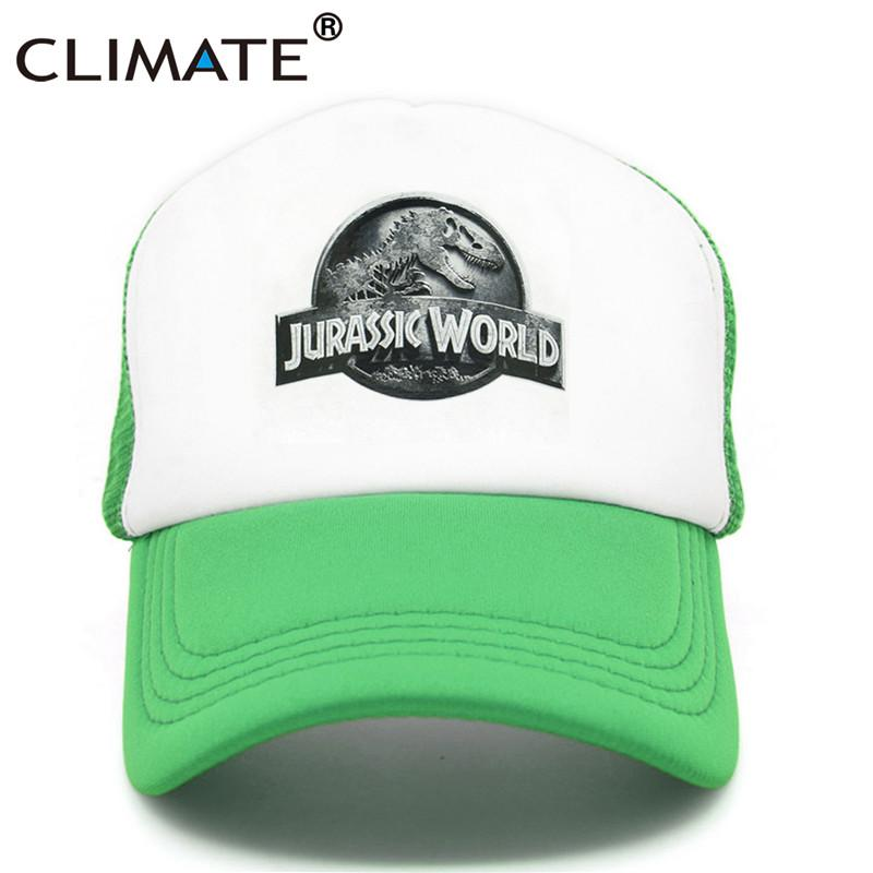 fb981c19b0f CLIMATE New Jurassic World Park Cap Hat Women Men Dinosaur Caps Hat Cool  Summer Hip Hop Mesh Baseball Caps Men Richardson Caps Customized Hats From  ...