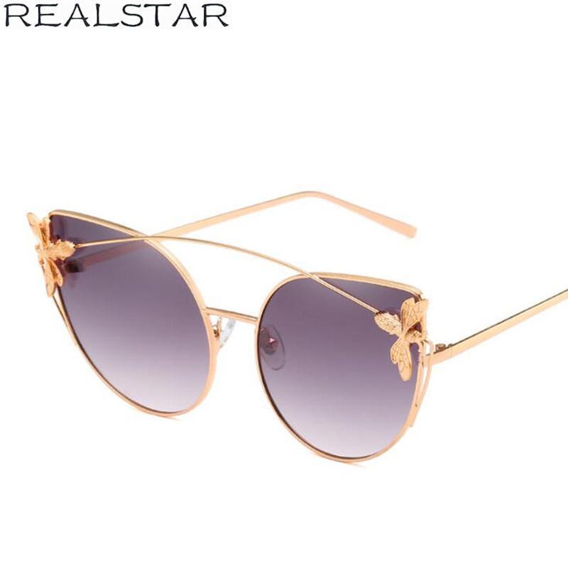 Großhandel Realstar 2018 Metall Katzenauge Bee Designer Sonnenbrille ...
