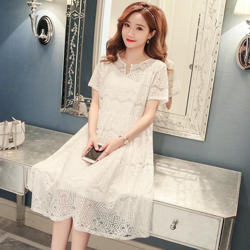 015314ea0fd 2019 Maternity Dress Summer Soft And Breathable Solid Short Sleeve Pregnant  Clothes Cotton With Lace Material Clothes For Pregnant Women From Miaosen2