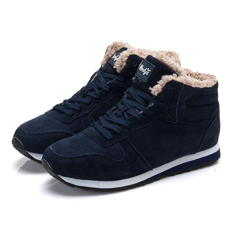 Hiver Cheville Chaussures Marque De Casual Hommes D Big Taille Neige Bottes Noir Bleu 1JclKuTF35