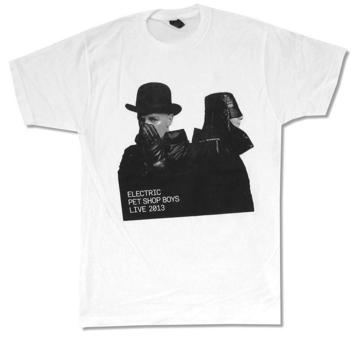 "PET SHOP BOYS ""ELECTRIC PORTRAIT TOUR 2013"" WHITE T-SHIRT NEW OFFICIAL BAND ""Short Sleeve T-Shirt Funny Print """