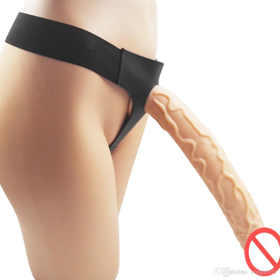 Strapon aspiration Dildo Cup avec harnais Lesbienne Anal Extreme Big Huge super long pénis Strapon culottes Ultra