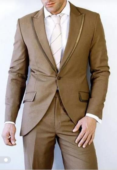 b069017335 Compre El Último Diseño De Pantalón De Color Marrón De La Boda Traje Para  Hombre Trajes De Baile 2 Piezas Chaqueta + Pantalón + Corbata Esmoquin De  Novio ...