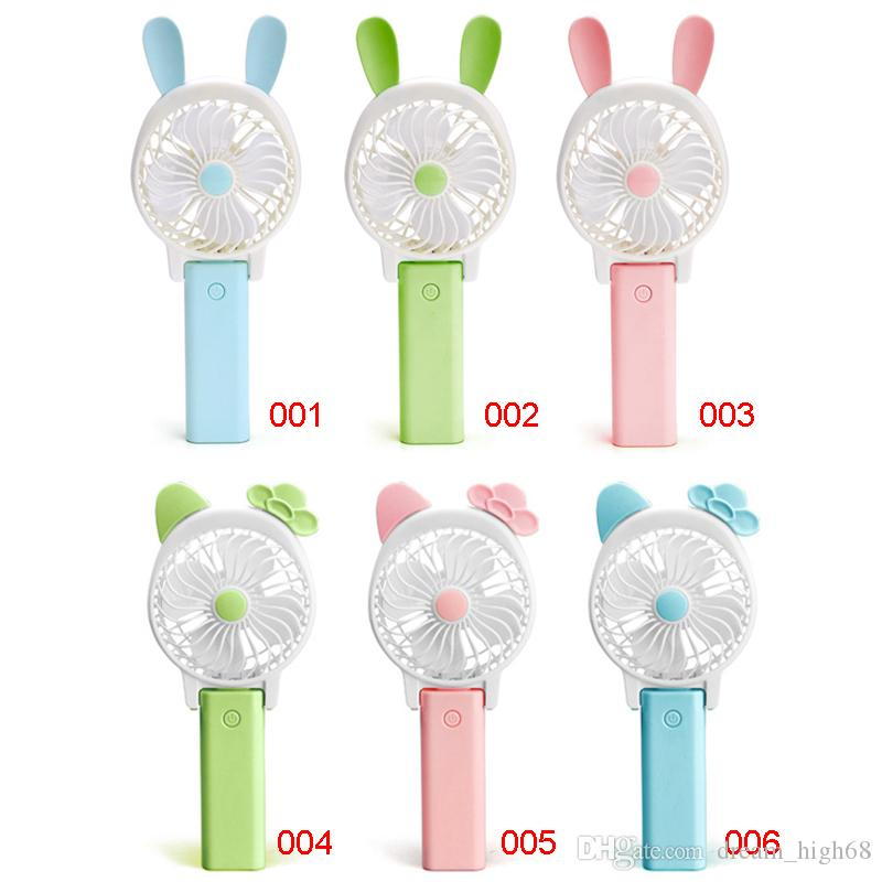 Portable Folding Fan Mini USB Rechargeable Cooling Fan Removable Rotating Handheld Outdoor Fans Pocket Fans Summer Air Cooler Kids Toys
