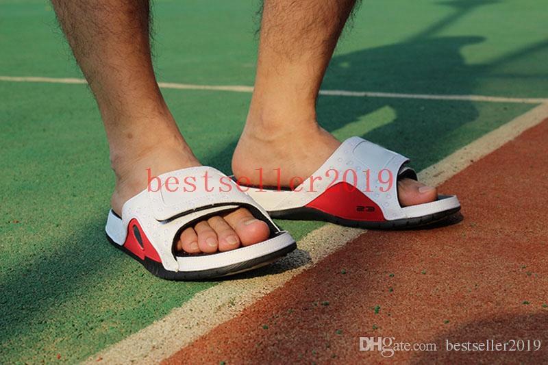 2018 New Hydro 13 Sandals XIII Real Cat Eye Men Slippers for High Quality 13s Designer Slides Slipper Black Red White Casual Shoe