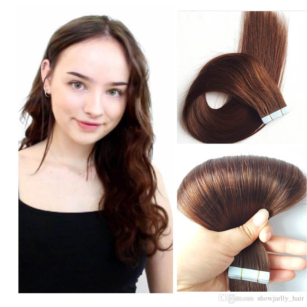 24 Tape In Human Hair Extensions 100grams Tape In Extentions For