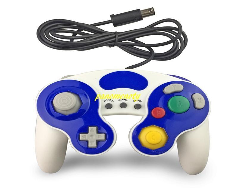 10 adet / grup GameCube Gamepad Controle PC GC Için Kablolu GC Denetleyici GC Joystick Desteği titreşim 10 renkler