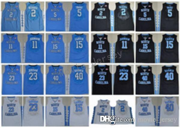 f3573f62c75423 2019 North Carolina Tar Heels College Jerseys Basketball 2 Joel Berry II 5  Marcus Paige 15 Vince Carter 11 Brice Johnson 40 Harrison Barnes From ...