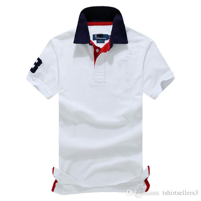 حرية الملاحة اختيار الصيف الساخن بيع الأزياء الكلاسيكية الرجال بولو كم قصير القميص 108 # ، وانخفاض الشحن