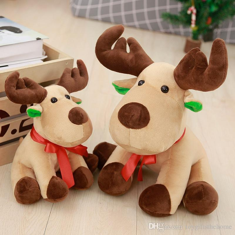 2018 plush toys 25 cm christmas moose figurine deer doll christmas gift christmas decorations supplies gifts from toygiftsthehome 783 dhgatecom - Christmas Moose Decorations