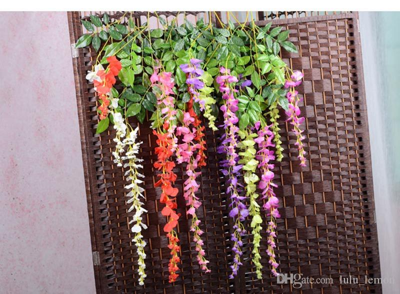 Artificial Vine Wisteria Flowers 29 and 43 Inch Silk Flower Decorative Flowers For Wedding Centerpieces Decorations Home Party