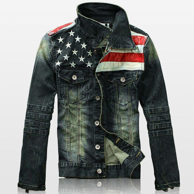 Acquista 2018 Autunno Denim Giacche Uomo Moda Pocket Da Uomo Jean Jacket  Star A Righe Slim Fit Casual Capispalla Vintage Retro Mens Coats A  52.79  Dal ... d75f5bd5b34