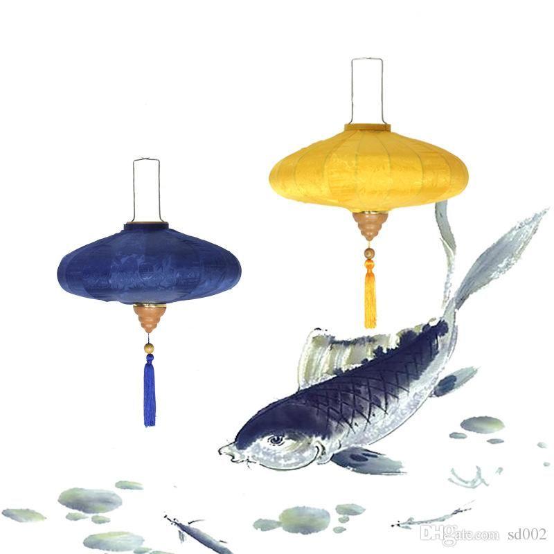 Restaurant Decor Lantern Satin Silk Lanterns Vintage Chinese Style
