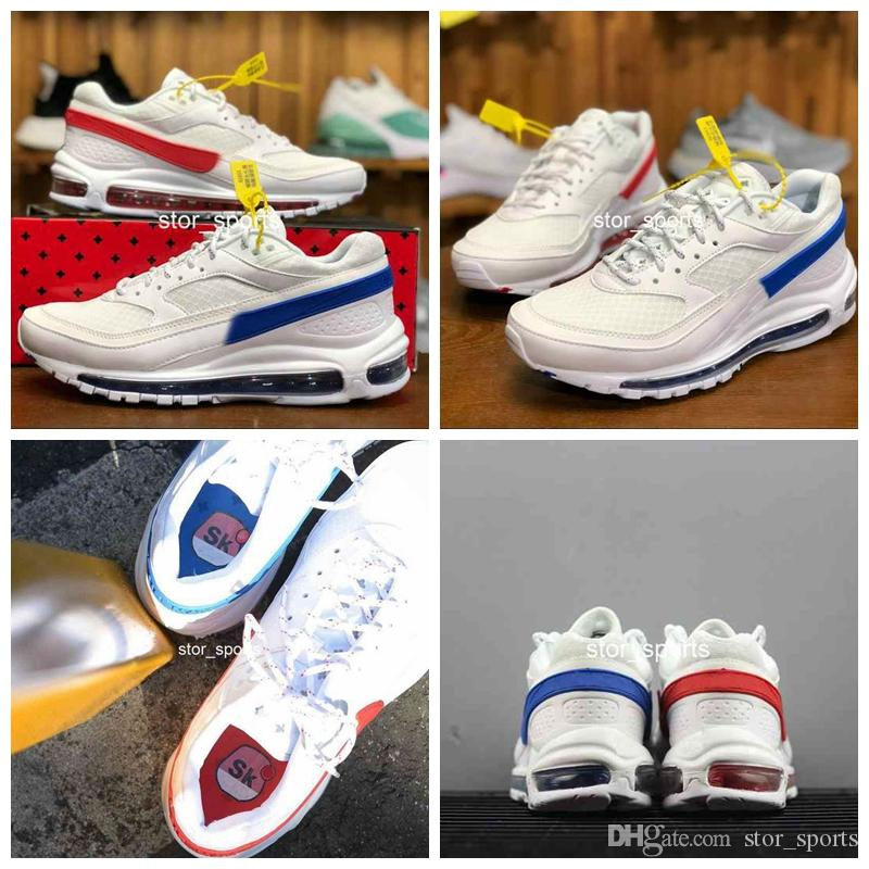 new styles b48fd 16bf4 2018 New Max97/BW x Skepta Running Shoes For Men & Women, Top Quality  Cushion 97 97s AO2113-100 Athletic Sport Sneakers Eur 36-45