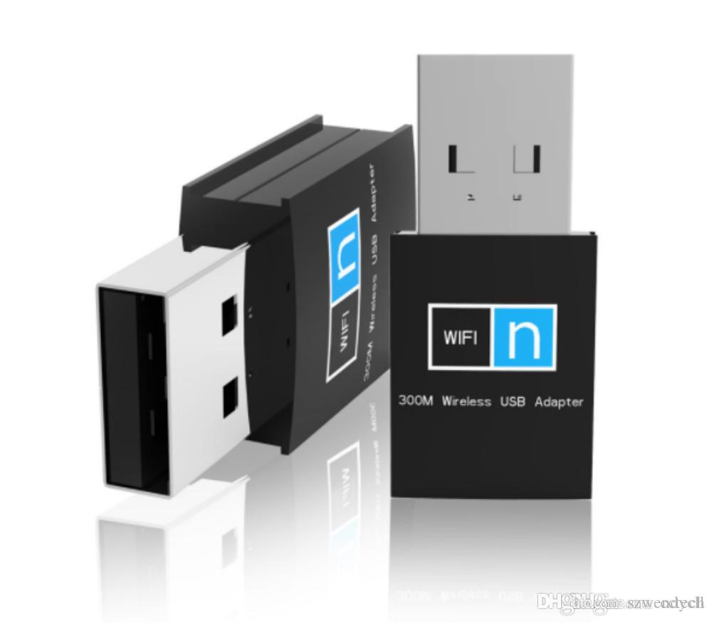 Mini Wireless Dongle 300Mbps WiFi Adapter RTL8192 USB LAN Card 2 4GHz WiFi  Receiver 802 11n/b/g Wi-fi External For PC/TV/STB/CCTV IPC