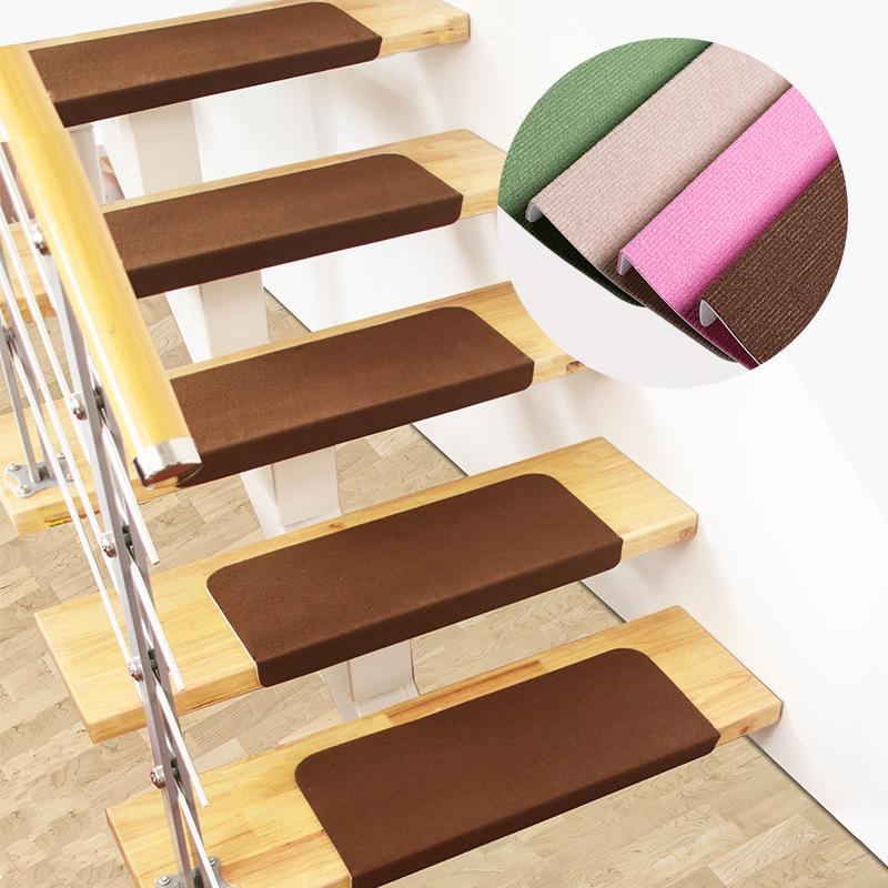 Solid Color Stair Carpet Sets Slip Resistance Stair Brown Mats Step  Rectangle Rugs Safe Treads Soft Carpets For Kids Family Soft Carpet Stair  Carpet Carpet ...
