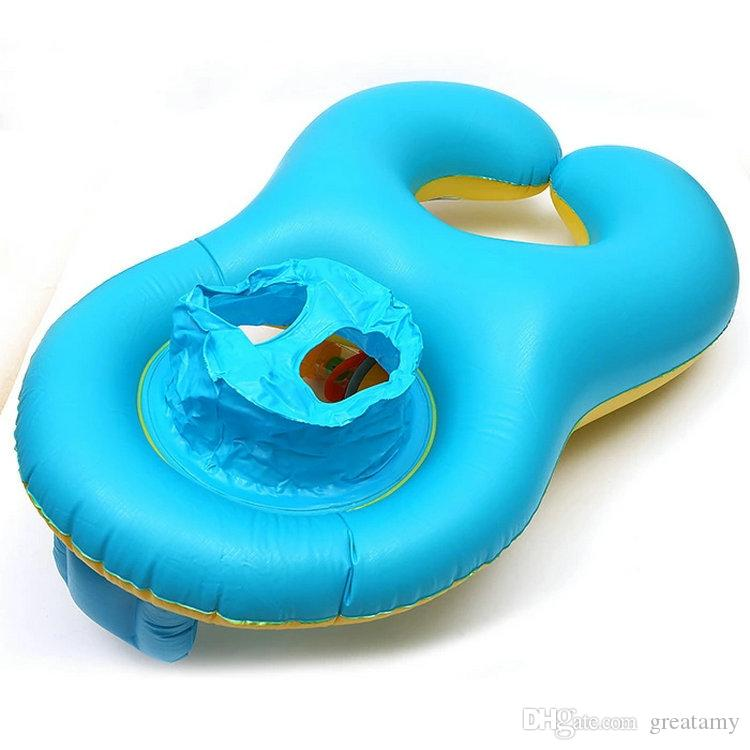 Mãe criança natação anel multicor espessamento inflável criança natação círculo Parent criança interação natação anel