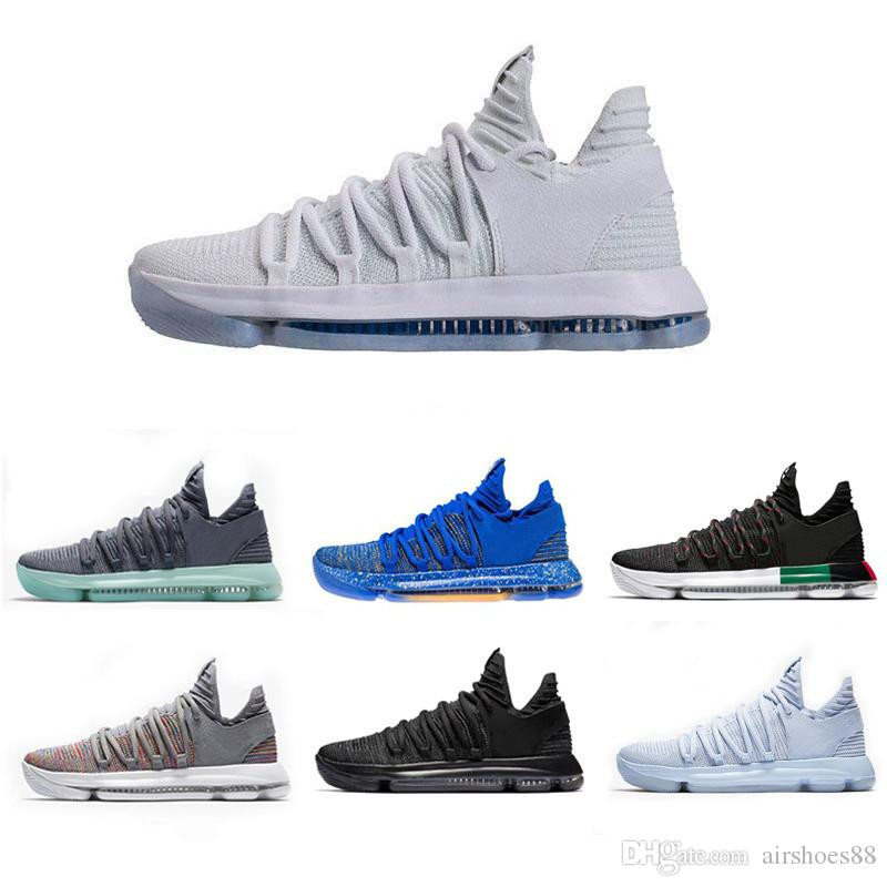4f999e614b9a Newest Zoom KD 10 Anniversary PE BHM Red Oreo Triple Black Men Basketball Shoes  KD 10 Elite Low Kevin Durant Athletic Sport Sneakers Carmelo Anthony Shoes  ...