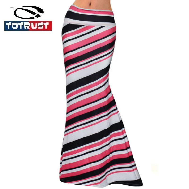 92d9d967d9 2019 TOTRUST Sexy Long Stripe Skirts Womens 2018 Plus Size High Waist  Casual Skirt Summer Slim Ladies Casual Print Jersey Skirt Saias S916 From  Ruiqi02, ...