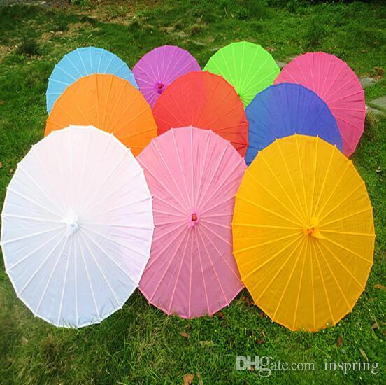 100pcs/lot Free shipping Small & big Chinese colorful Umbrella China traditional dance color parasol Japanese silk props