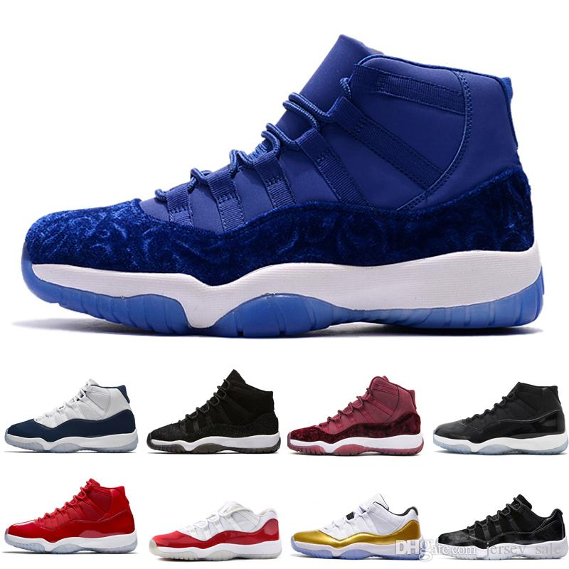 6dedd90fc22c 2019 11 Gym Red Space Jam 45 GS Midnight Navy WIN LIKE 82 96 Mens Basketball  Shoes Top Quality 11s PRM Heiress Black Stingray Sneakers Trainers From ...
