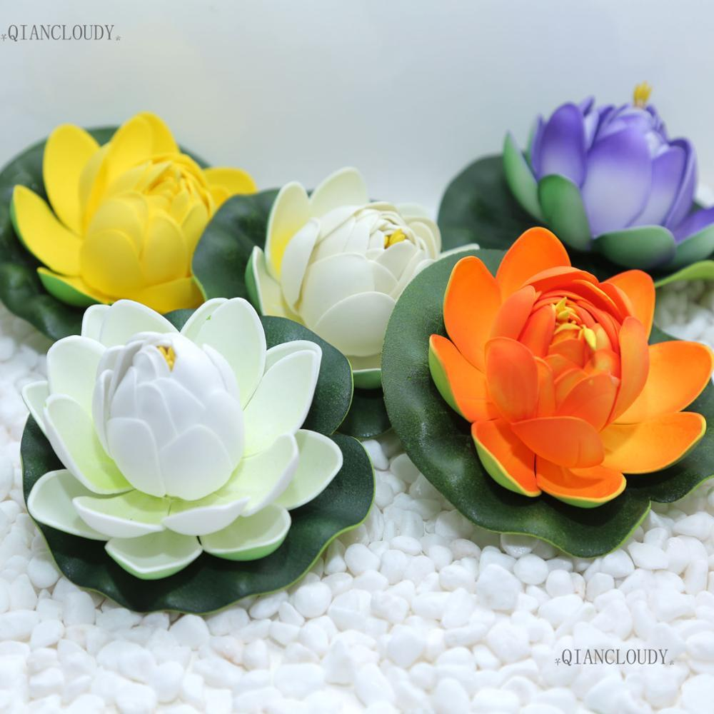Decorations Artificial Dried 10 Pieces Artificial Fake Lotus Buds