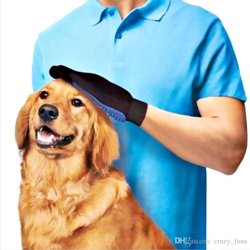 Guanto pettine governante cani guanto di rimozione dei peli di cane di i la spazzola di pulizia del bagno del cane del gatto che guasta i guanti di Deshedding del guanto di massaggio