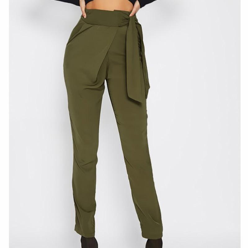 ea075fd9d The New Autumn Spring Bowknot Pencil Trousers Women Fashion High Waist  Zipper Pantalon Femme Skinny Pants Women S-XL Online with $38.68/Piece on  Wanglon01's ...