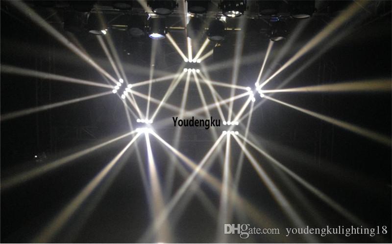 2 pièces 8x10w disco s'allume son activé spider dmx blanc tête mobile led dj spider light