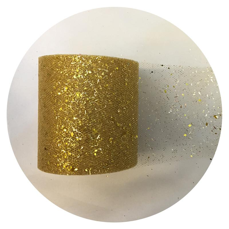 7.5cm*25yards New Sequin DIY Tulle Roll Bridal Party Spool Tutu Birthday Gift Wrap Wedding DecorationFestive Event Supplies-B